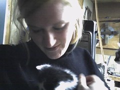 Terri and a kitten