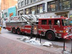 Firetruck in Downtown Crossing