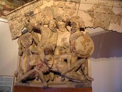 temple italia terracotta helmet villa gods warrior shield museo terra