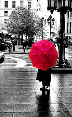 On the rain (Fernando Farfan.ca) Tags: 2 black pool beautiful rain umbrella grey blackwhite cool photoshoot pentax you photos montreal your qubec winner faves reflexion invited my anawesomeshot winnerstrophy onlycomment