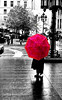 On the rain (Fernando Farfan.ca) Tags: 2 black pool beautiful rain umbrella grey blackwhite cool photoshoot pentax you photos montreal your québec winner faves reflexion invited my anawesomeshot winnerstrophy onlycomment