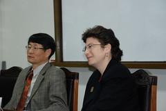 Beth at Korean American History Society meeting