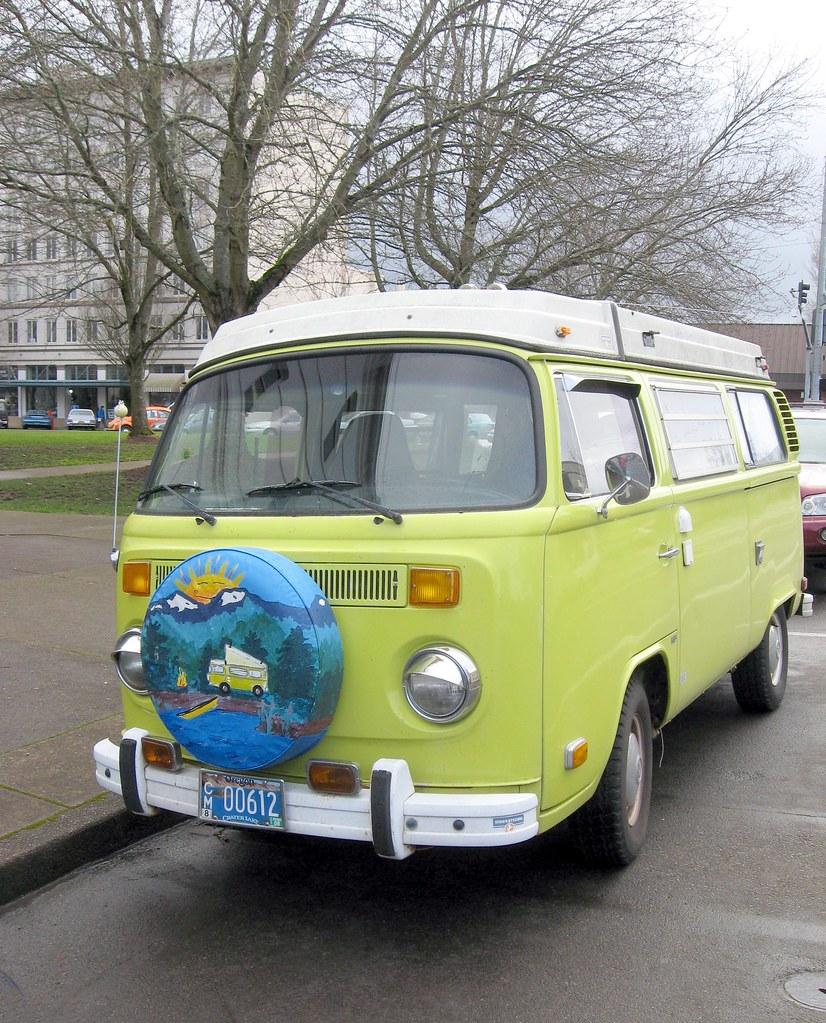 Fuller View of Old VW Bus - Volkswagen Westphalia Camper