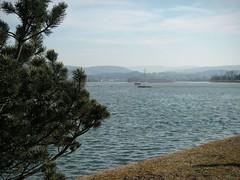 Klingnauer Stausee, gesehen von Norden nach Süden