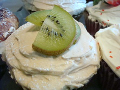 Kiwi Topped Cupcakes at Macrina, Belltown, Seattle