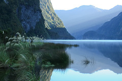 Sunrise in Fiordland