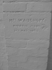 Mrs Wauchope named inscribed on a local church
