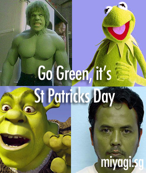Go Green, it's St Patricks Day