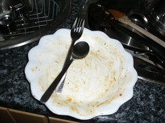 And the finished dish - ooops!
