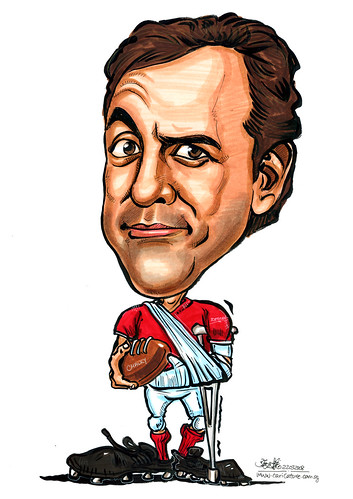 Caricature  retired footballer