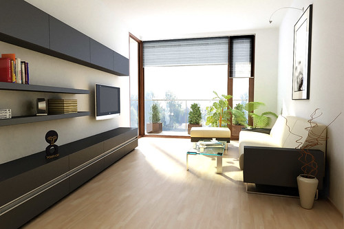 minimalist style living room interior design idea - Minimalist Interior Design Living Room