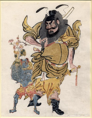 Zhong Kui and a demon - 17th cent.