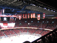 2008 Western Conference Quarterfinals San Jose Sharks v Calgary Flames, Saddledome   Sea of Red (Beauty Playin 'Eh) Tags: canada saddledome redsea sanjosesharks calgaryflames redmile seaofred pregameskate pengrowthsaddledome pregamewarmup nhlplayoffs cofred calgaryflamesvsanjosesharks nhlstanleycupplayoffs2008
