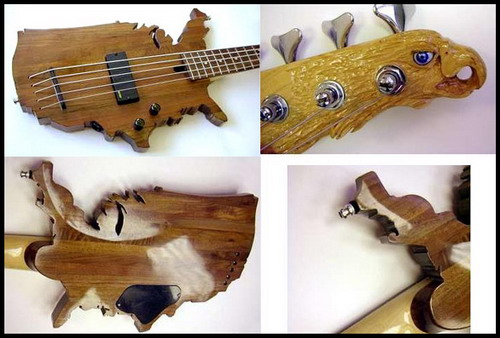 Strange guitar. Now this is definitely a strange bass