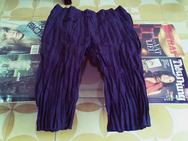 JW wrinkled stripe short trousers