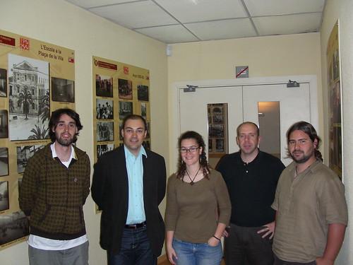 Foto de família a la Presentació de Nació.cat i Penedesfera a Vilanova i la Geltrú
