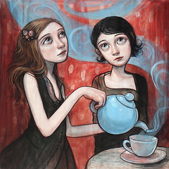 """Tea Vortex"" (verpabunny) Tags: original painting thinkspace kellyvivanco uncommongardens"