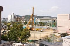 松島小学校工事4月12日