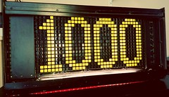 1000 Members (EveryBodiesDeadDave) Tags: admin light creations group flickr brighttech developments dotmatrix sign lightcreations 1000 members lightcreation orbs lightpainting lighttrails lamps night dusk indoor outdoor photos artificiallight sonyx5 cell mobile phone everybodiesdeaddave