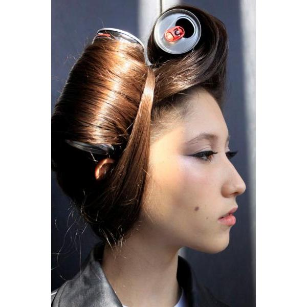 DIY Lady Gaga hairdo by Fashion Notebook
