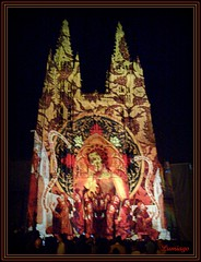 Catedral (Fachada Plaza de Santa Mara) (Lumiago) Tags: espaa luz spain catedral nocturna burgos castillaylen lanocheblanca
