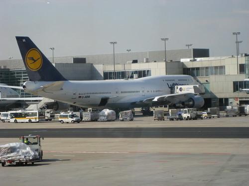 Vista dell'aeroporto di Francoforte