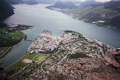 Heights (IggyRox) Tags: mountain norway town top fjord andalsnes