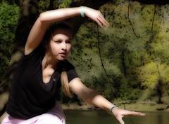 the bench dancer (zen) Tags: usa river dance asheville northcarolina dancer filter gloom sculptures moderndance frenchbroad zensutherland riversculpturefestival 20071020 googleavl