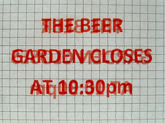 The Beer Garden Closes
