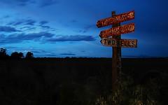 The Way To Go (blabbr) Tags: road longexposure dusty sign way virginia rust dusk oz path flash rusty australia adelaide roadsign outback crossroad southaustralia ozzy downunder jackaroo gawler camd70s lens2880mm setdownunder twowells kitionnet