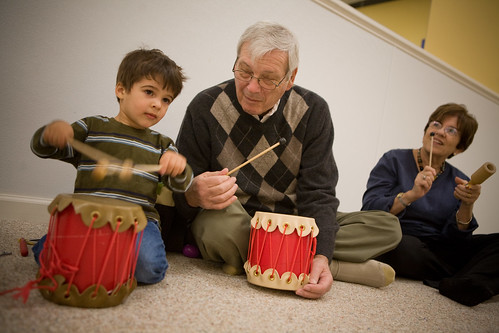drumming with grandparents
