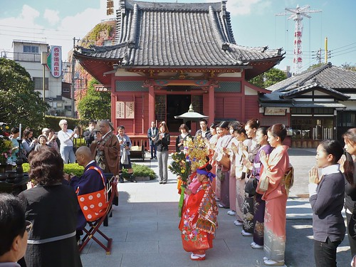 Buddhist ceremony near the Sensoji
