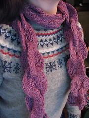 Linked Rib scarf