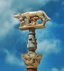 Siena's Capitoline Wolf. (egold.) Tags: travel italy sculpture siena hdr smrgsbord ancientrome goldenmix
