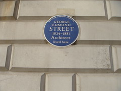 Photo of George Edmund Street blue plaque