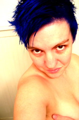day 209: freshly blued (bryiarrose) Tags: blue vivid bluehair electricblue 365days