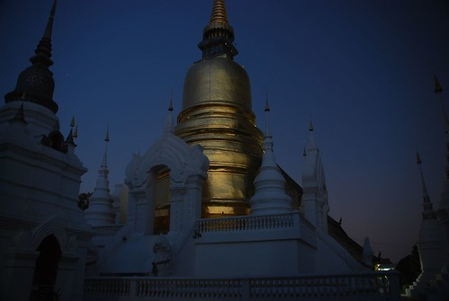 Sunset at a temple, Chiang Mai