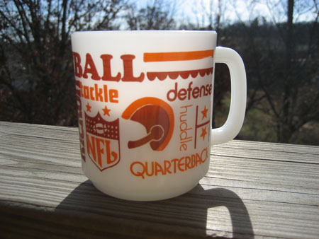 Glasbake Football Mug