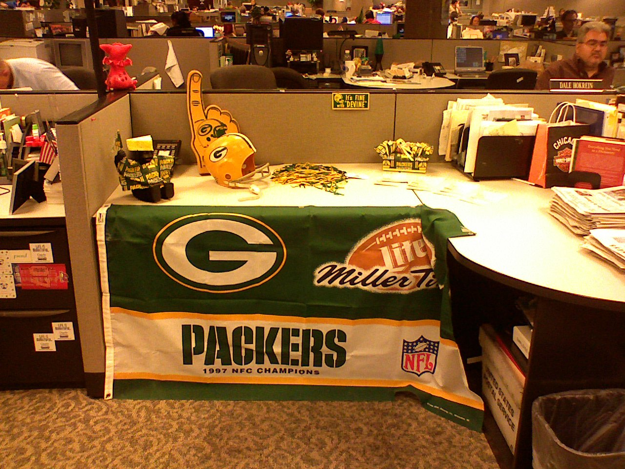 Jerry's Packers shrine