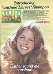 Vintage Sunshine Harvest Shampoo (twitchery) Tags: vintage hair shampoo 80s 70s conditioner vintageads clairol vintagebeauty