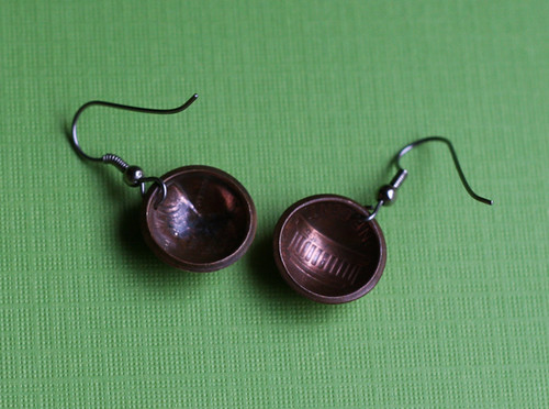 My .02: Penny earrings made by Sudlow