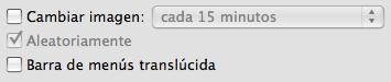 Barrás de menú opacas en Mac OS X 10.5.2 Leopard