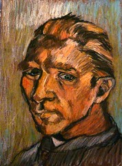 A copy of Van Gogh's Self Portrait