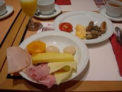Breakfast dishes at Ramada Park Hotel, Geneva