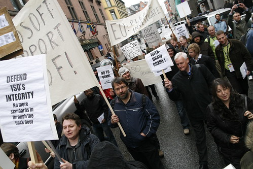 OOXML Protest in Oslo, Norway