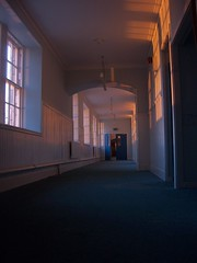 corridor light (Alir147) Tags: hospital scotland hall stage wheelchair memories paintings medical photographs forgotten nhs historical nurse exploration asylum derelict wards mentalhospital lunaticasylum abandonedhospital abandonedmentalhospital derelicthospital corrdior patientartwork