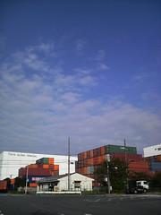 コンテナ倉庫街