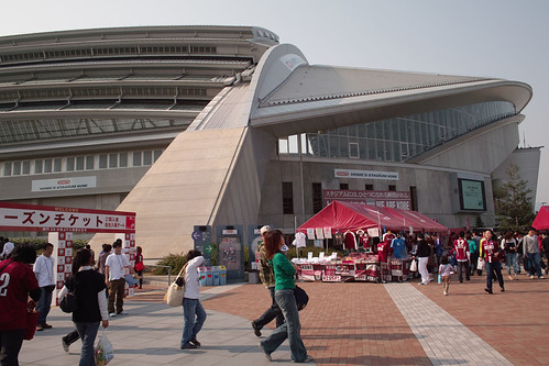 The entrance of Kobe Wing Stadium (Home's Stadium Kobe)