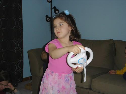 Corinne meets Wii MarioKart