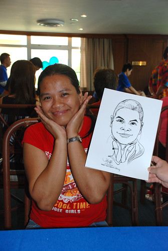 Caricature live sketching Temasek Fun Day 12